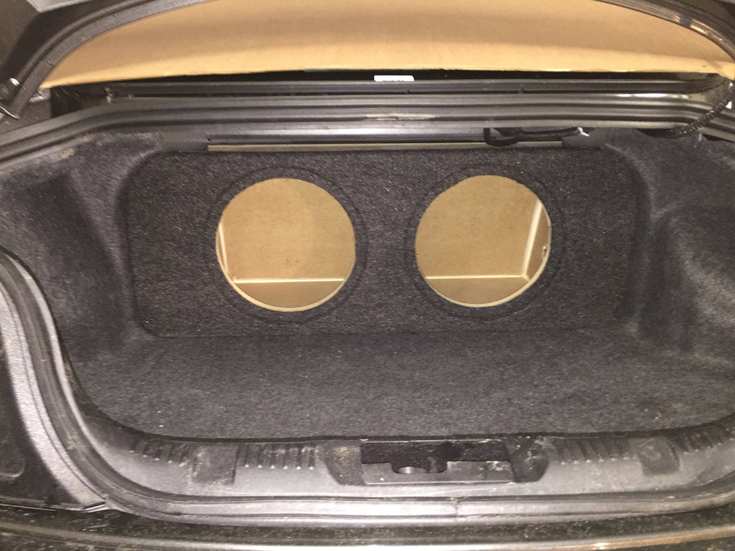 "Zenclosures 2015-2016 Mustang 2-10"" Subwoofer Box W/recessed Mounting Holes, Rear Fire - Charcoal, Version 2"