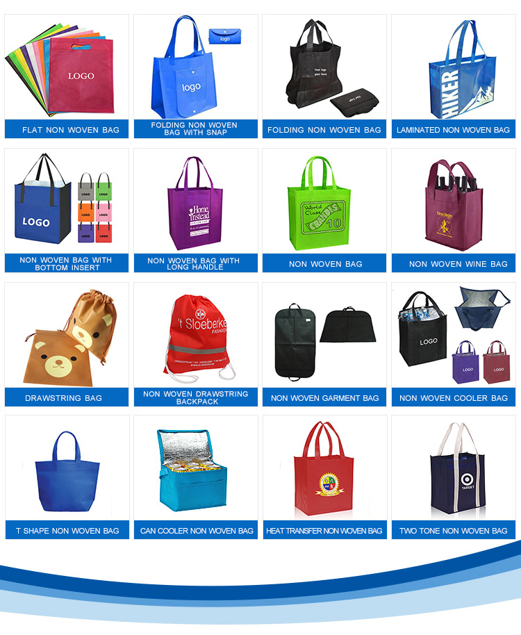 Promotional Picture Printing PP Non Woven Shopping Bag