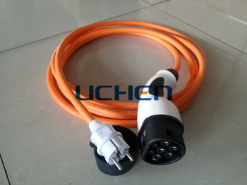 iec 62196 2 electric vehicle charger plugs schuko to type. Black Bedroom Furniture Sets. Home Design Ideas