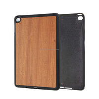 Wholesale Blank Cherry Wood Unique Customized TPU Edge Mobile Phone Cover Case for iPad ,Wood Accessories