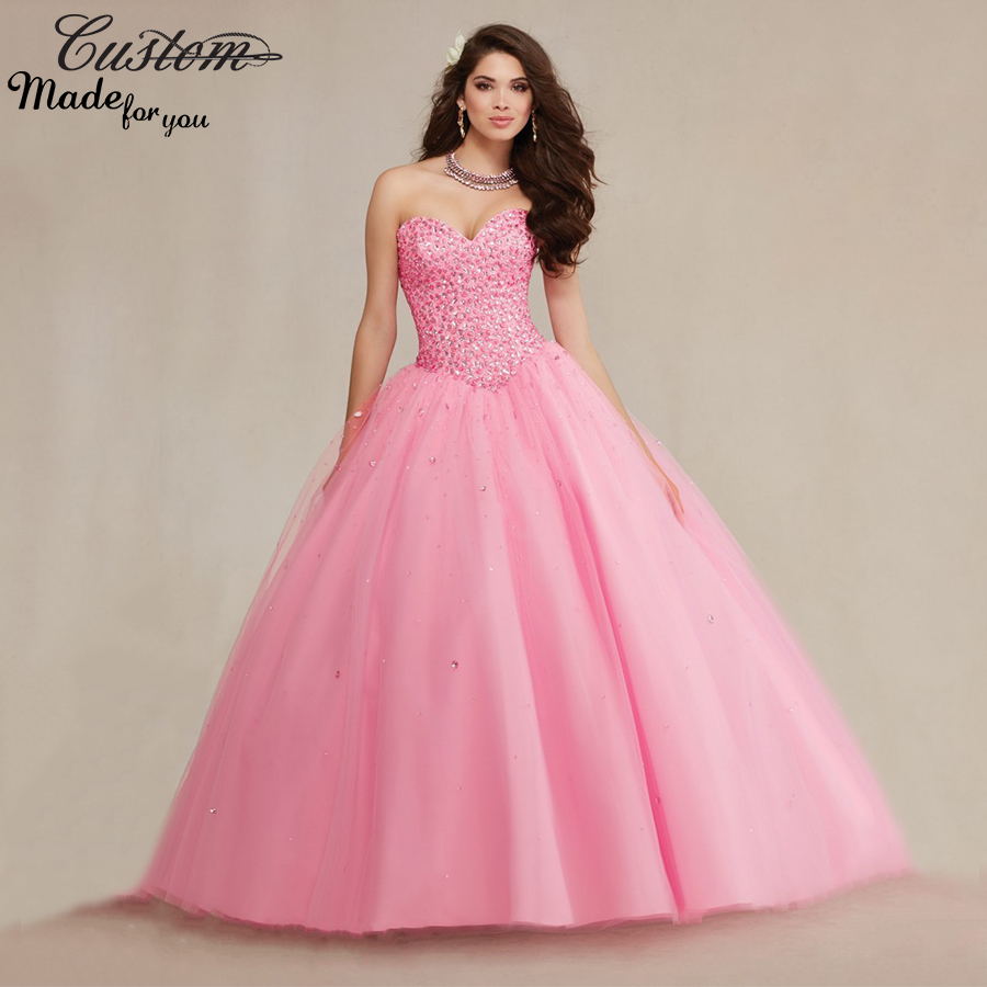 Light Pink Ball Gown Sweet 16 Dresses | Fashion Tips