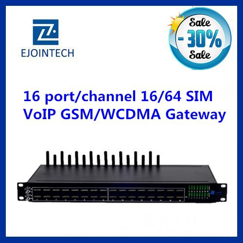 Ejoin 2014 16 port gateway voip with multi sim rotation customised IVR new gateway system