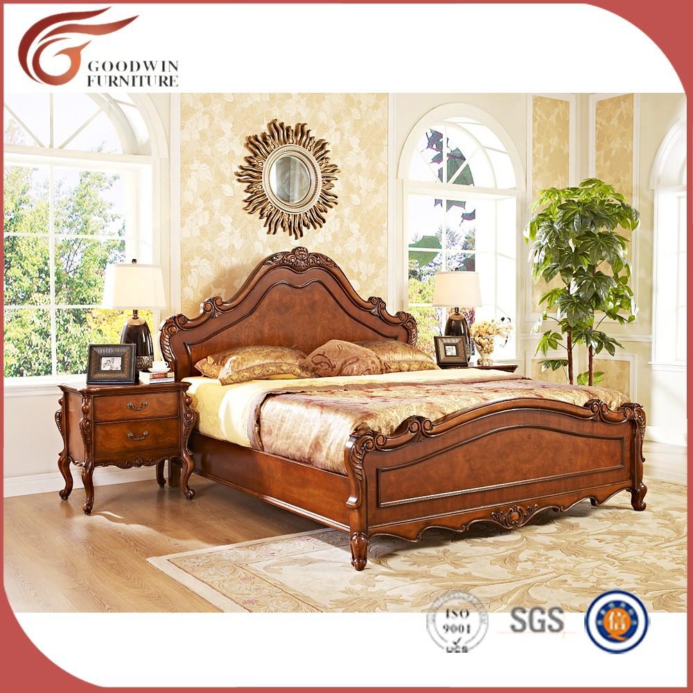 Lujo Royal Muebles De Dormitorio De Madera S Lida Cl Sico Hermoso  # Muebles Juegos De Alcoba