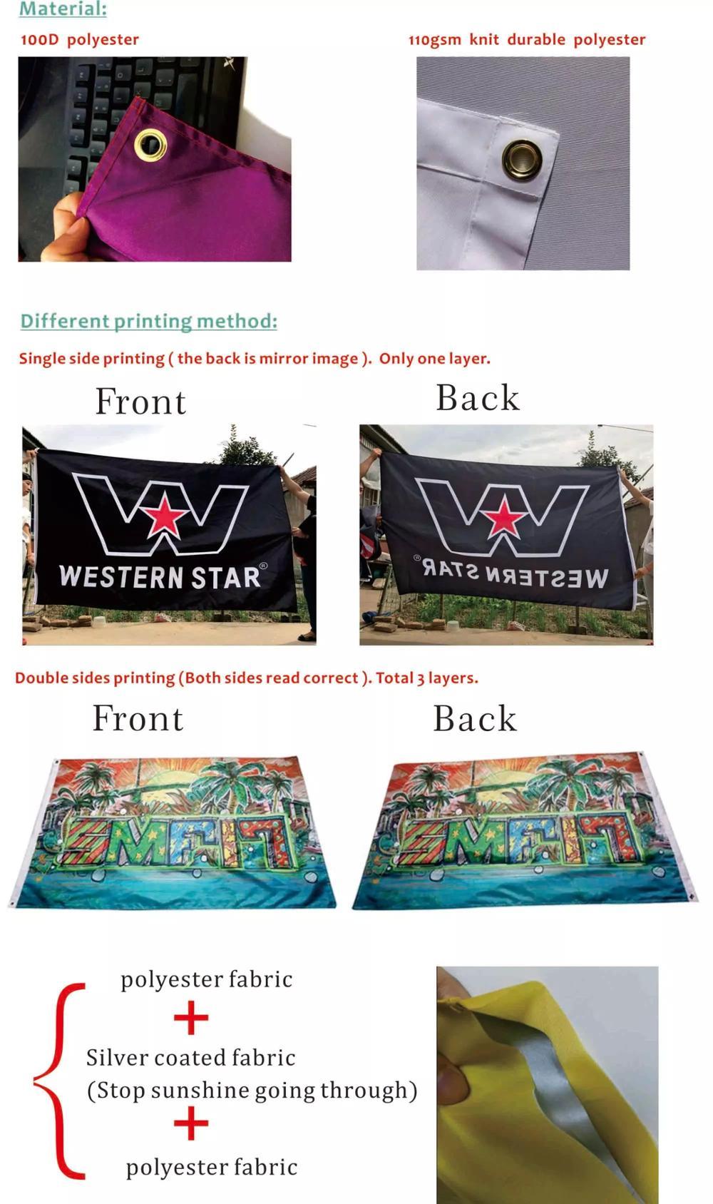 Flying large screen printed advertise custom banner wall trump flag