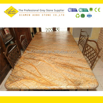 Merveilleux Rain Forest Gold Marble Slab Table Top,marble Top Dining Table Sets