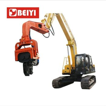 Hydraulic static Impact Vibrating Pile Driver for excavator