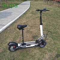 10inch 500w 350w lithium battery front back suspension two wheel electric skateboard/fat tire folding self balancing scooter
