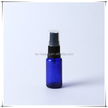 Blue Essential oil glass bottle with oil sprayer 0.15 cc