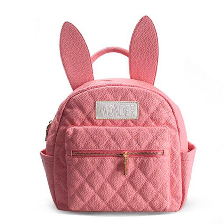 a4eeed81d008 Get Quotations · YING LAN Bunny Ears Backpack Wonderland Rabbit Pastel Cute  Kawaii Harajuku Small Bag