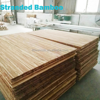 Nice Carbonized Strand Woven 3 Ply Solid Bamboo Table Top