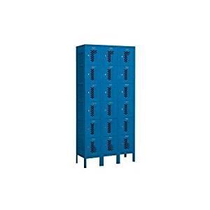 "6 Tier 3 Wide Vented Box Locker Color: Blue, Size: 78"" H x 36"" W x 18"" D"