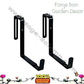 garden planter metal deck rail bracket pair   buy deck