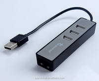 High speed 3 Ports USB2.0 Hub + USB Ethernet Adapter For MAC/PC