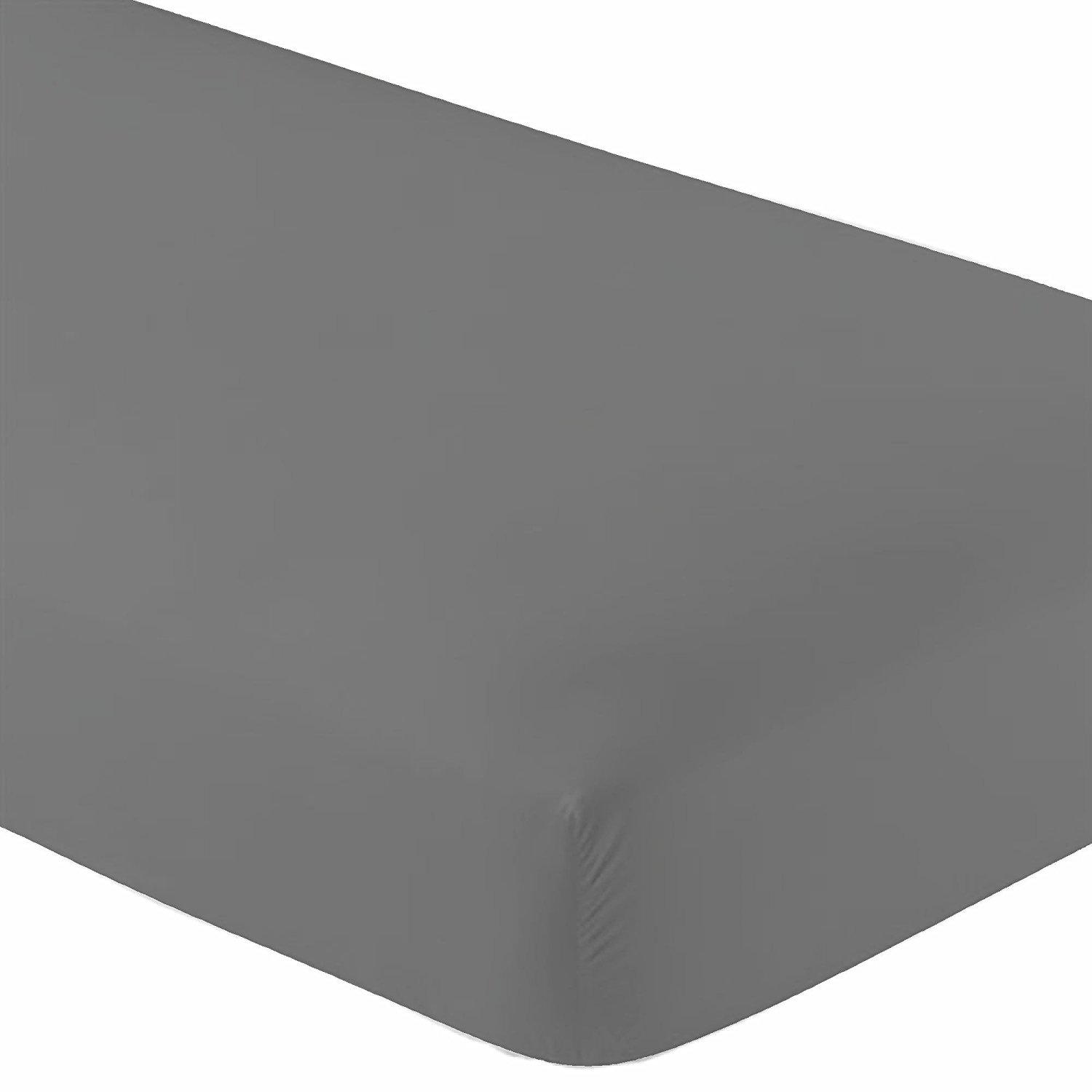 Twin Extra Long Micro Fiber Fitted sheet - Soft and Comfy - By Crescent Bedding Grey Twin XL