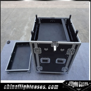 Flight Road 10U Slant Mixer Rack Combo case