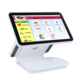 Good design piano paint surface dual screen pos system restaurant ordering system cashing machine