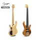 oem wholesale price neck through body korea 6 strings electric bass guitar