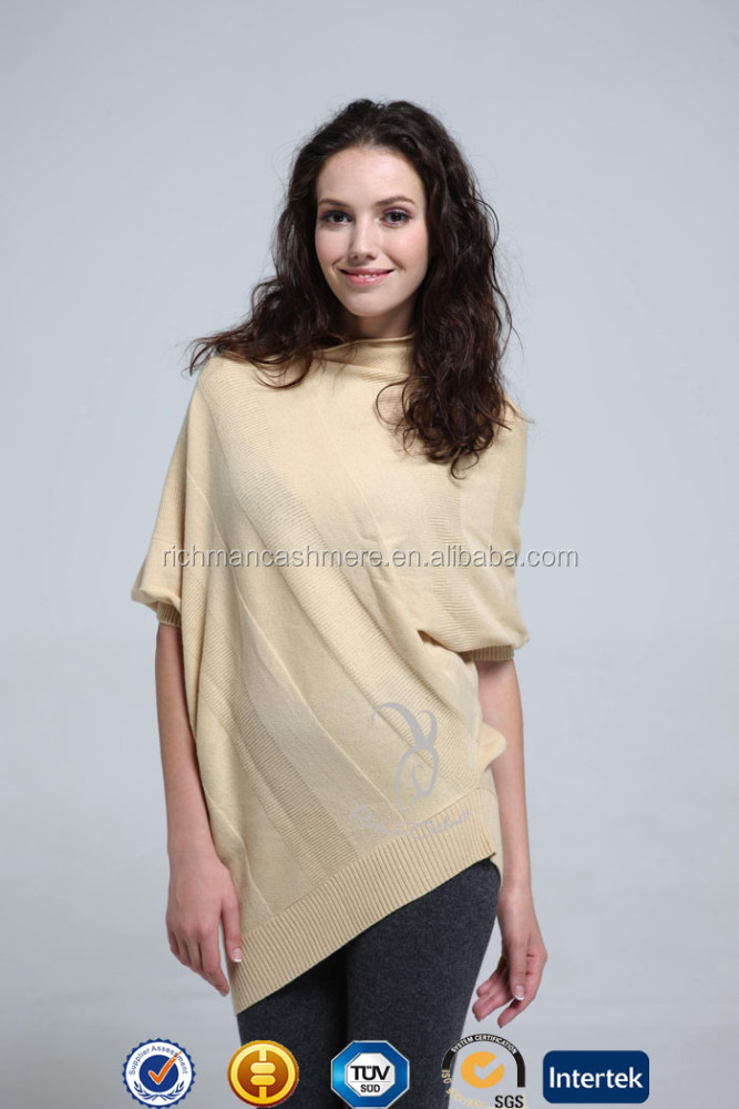 One Piece Cashmere Poncho Women's Cashmere Blend Sweater
