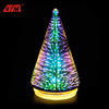Wholesale high quality 3d decorated commercial small glass artificial christmas tree with led lights