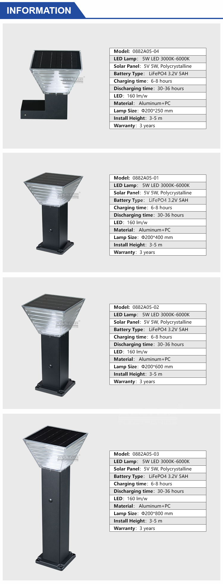 solar led garden light factory-7