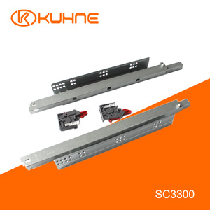 Soft close Concealed Full extension Clip on Undermount Drawer Runners for Furniture SC3300