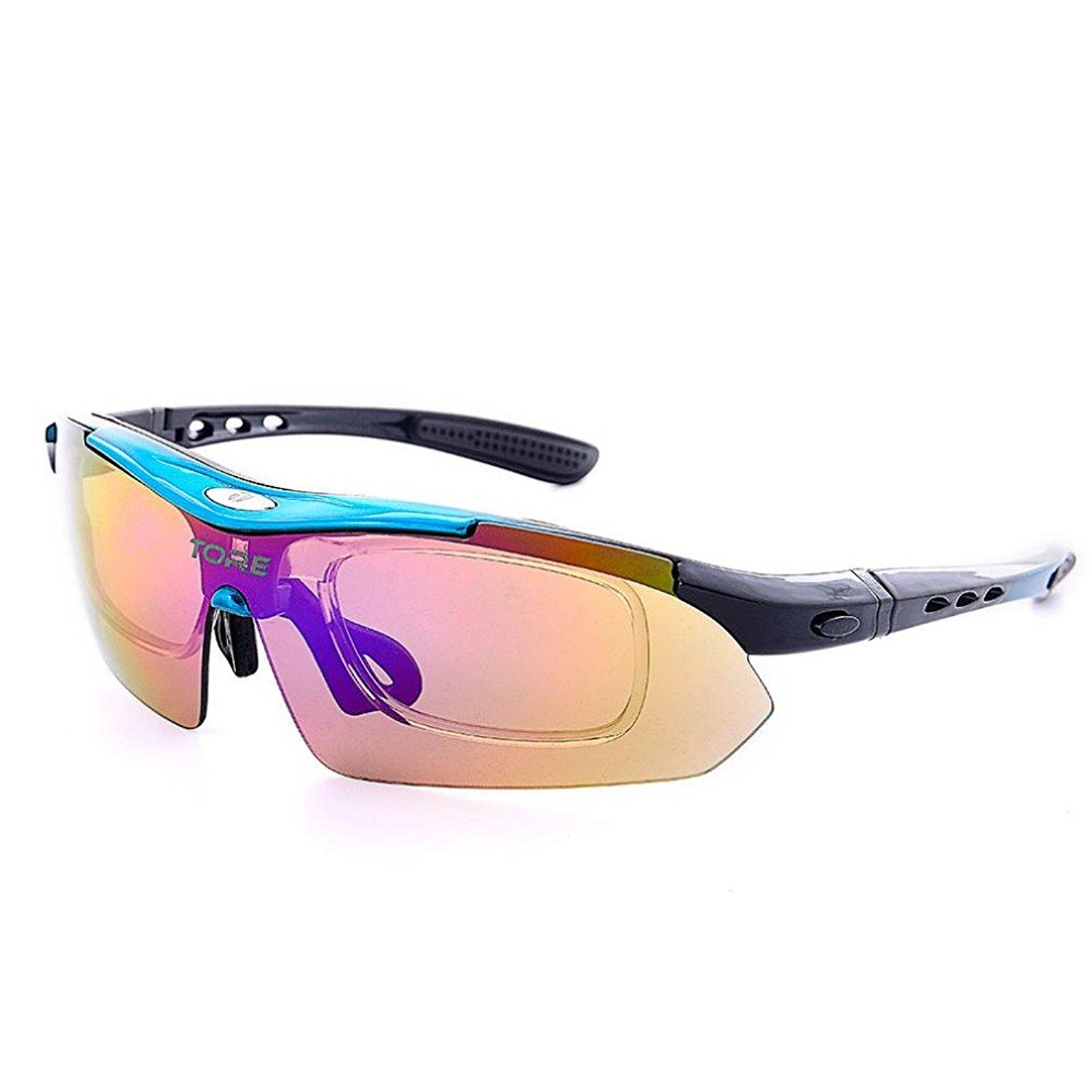 91e0146af3fe Get Quotations · Flank Polarized Cycling Glasses,Cycling UV Eye Protection  Windproof Glasses With Lens For Outdoor Cycling