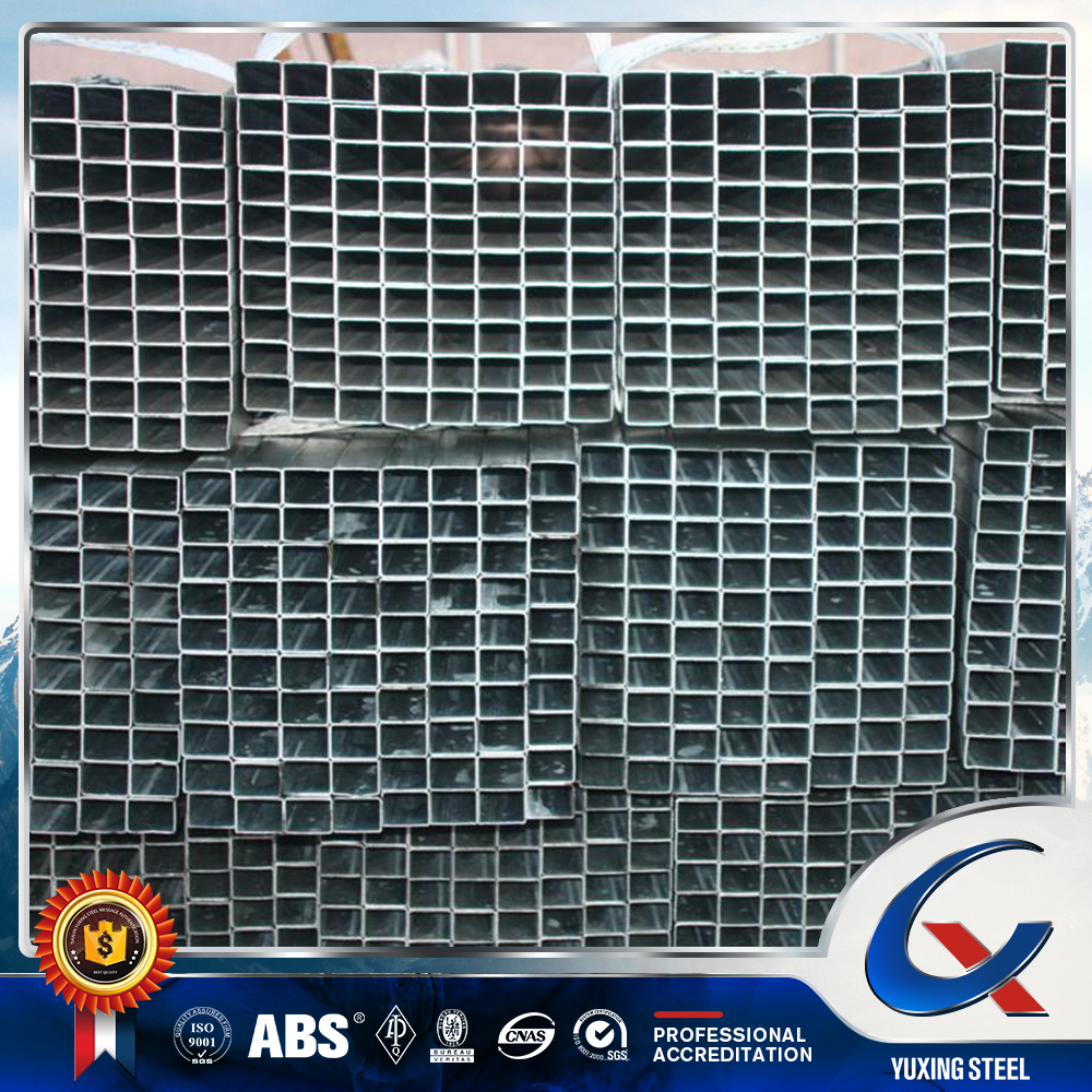 pre galvanized coat electrical resistance square welded steel pipe