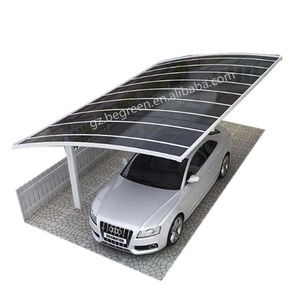 white metal frame foldable car shelter with polycarbonate sheet,luxury carport,carport siding