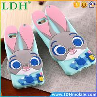 ZOOTOPIA Rabbit TPU Gel Silicon Back Case For Samsung Galaxy S5 S6 S7 Lovely Cute Mobile Phone Accessories For iPhone 6 6s/Plus