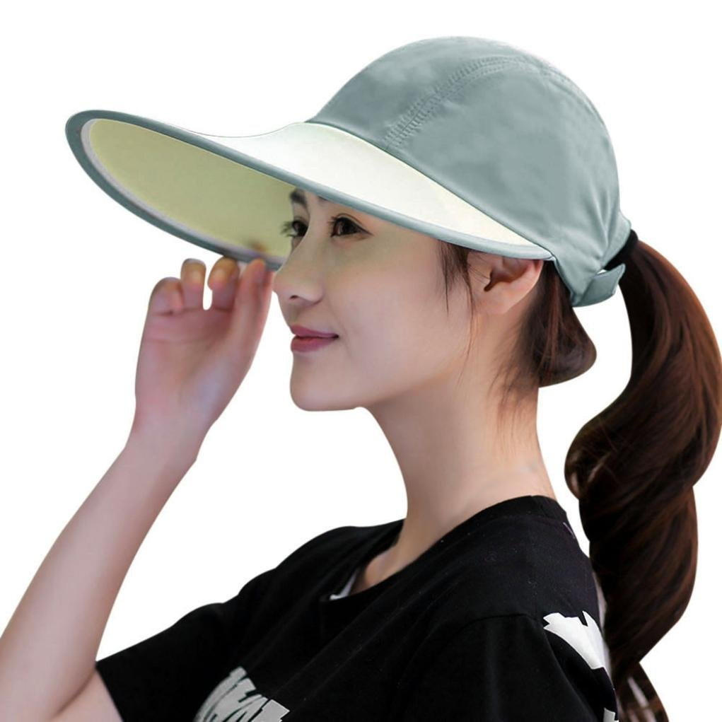 Get Quotations · Creazy Sun Hats Sun Visor Hat Sun Hats With Big Heads  Beach Women Summer Hat ( a916c471763
