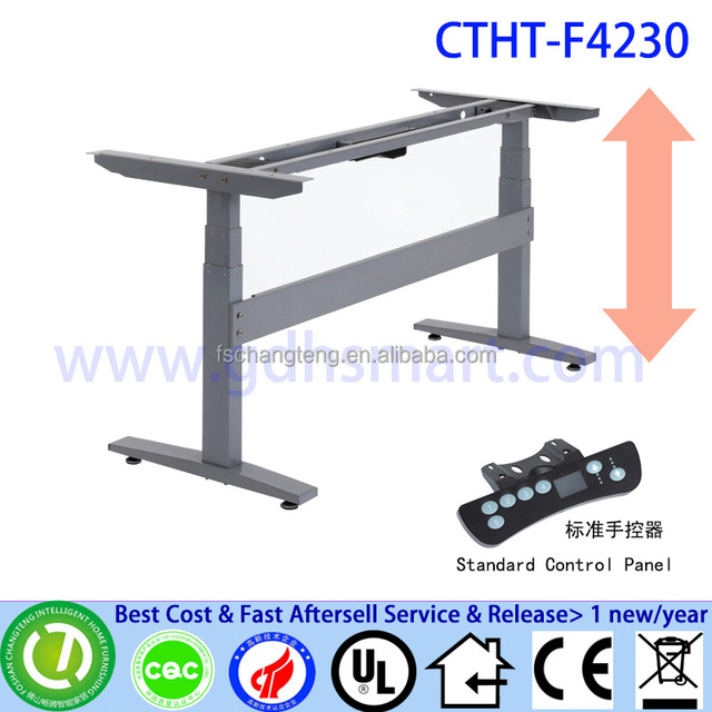 Electric Height Adjustable Table Leg Frame Stainless Base Dining Marble