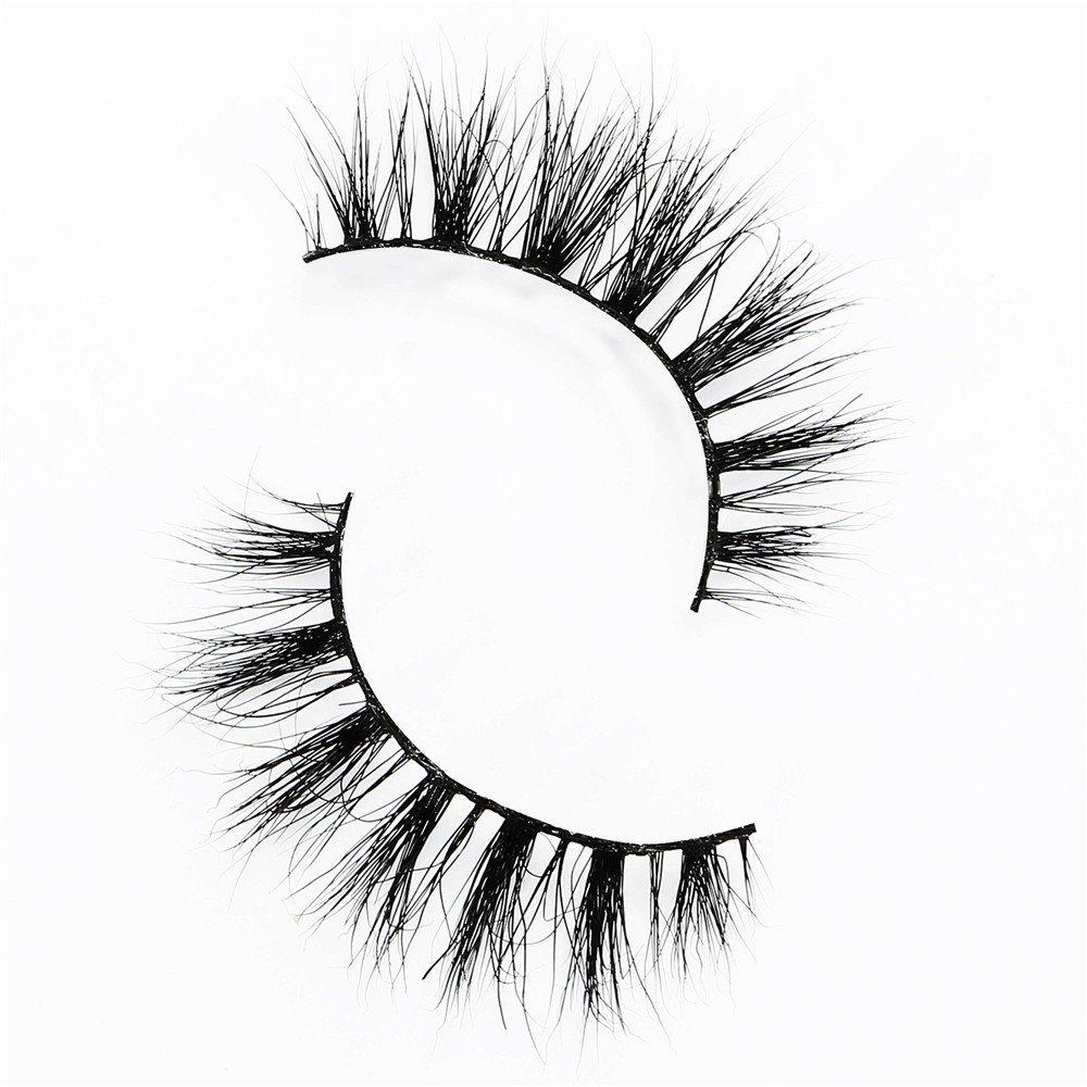 f939c96b3d8 Get Quotations · 2 pairs Mink hair false eyelashes ︱ dense natural nude  makeup false eyelashes ︱ 3D three