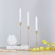 4119 modern simple design decorative small slender metal candle holder