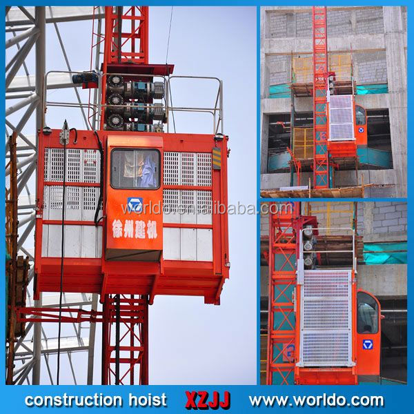 building construction materials lift with trolley used for construction building hoist