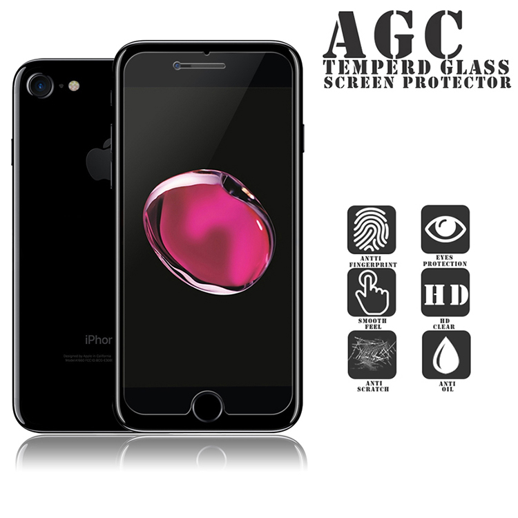 Factory supply 0.33mm 2.5D 9H Asahi Glass matte tempered glass screen protector for iPhone 7