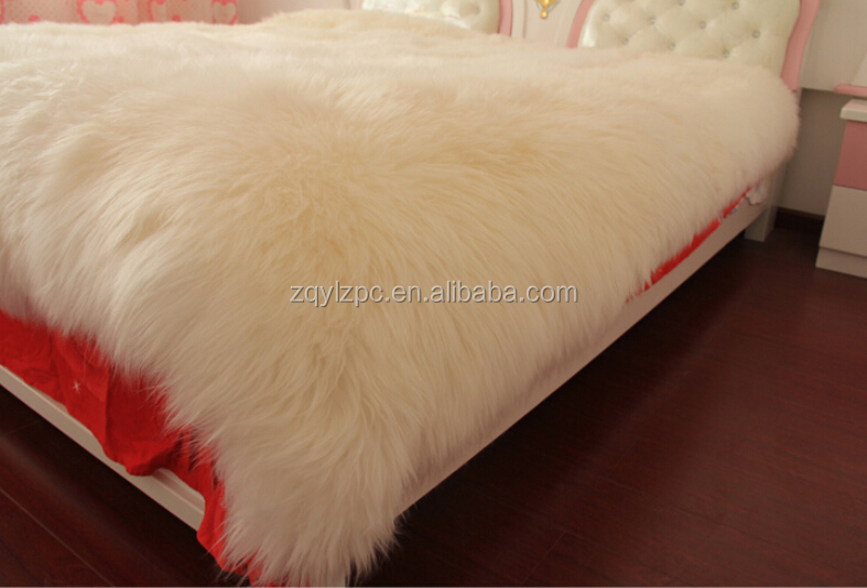 Entertainment Memorabilia Natural Tibetan Lamb Rug Goat Skin Blanket Mongolian Blanket Sheep Fur