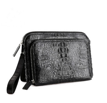 Genuine Crocodile Bag Custom Leather Bag Clutch Bag Men Zipper Clutch Wallet