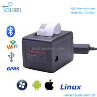 80mm wireless barcode label thermal receipt printer with wifi, bluetooth, usb, gprs communication