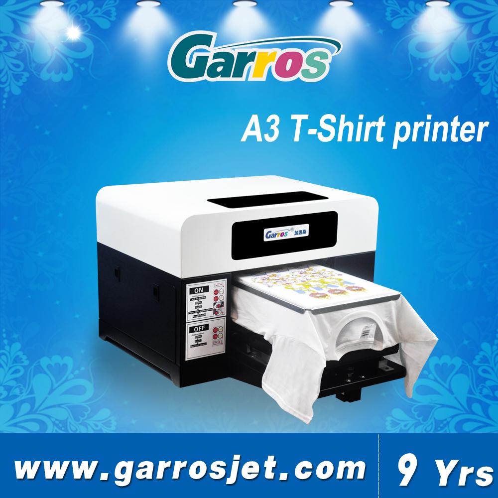 High Speed 5 Color Cmykw T Shirt A3 Printer Digital Screen Printing