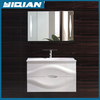 Hot selling Concise Style MDF furniture multifunction mirror and ceramic hand wash basin white Bathroom Vanity