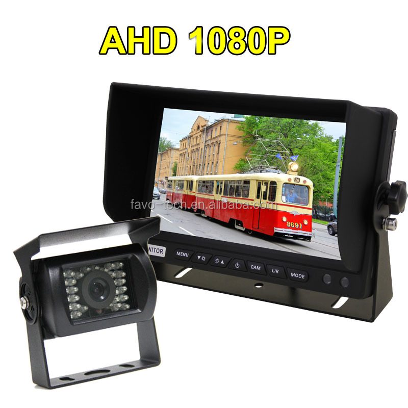 DC12V-24V 7 Inch 1080P AHD Truck Camera Monitoring Rear View System