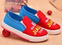 2016 Hot Sale Spring Autumn Children Cartoon Canvas shoes Sneakers Flats shoes for kid