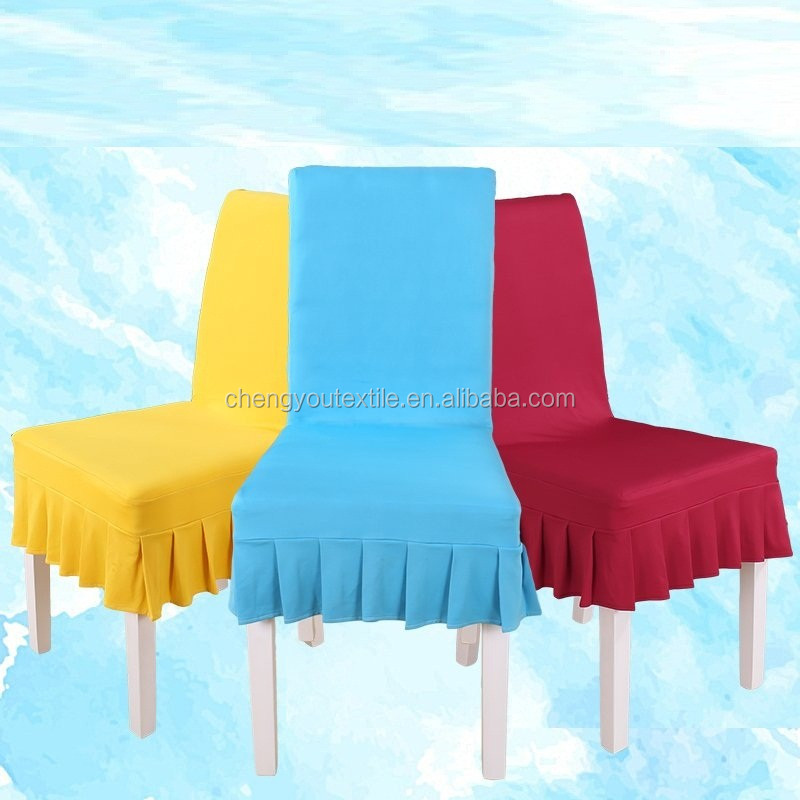 Pleated Shirt Short Spandex Chair Cover White Colors Buy Chair Covers 1 00