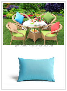 Outdoor patio furniture wicker armchair seat pillow cushion ,custom backseat pure color rectangle pillow