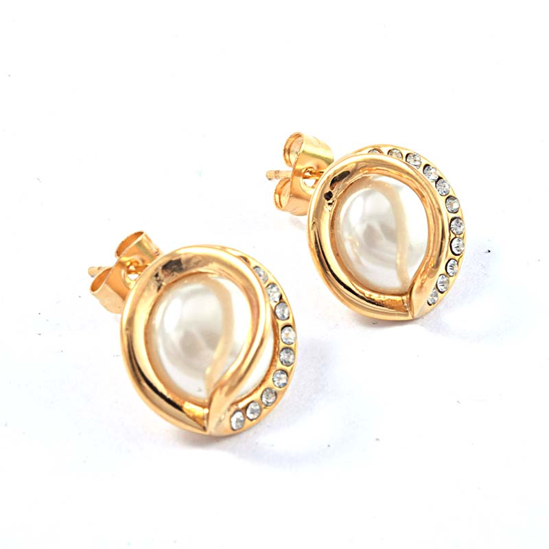 Goods From China Stainless Steel Zircon Crystal Stud Earring Fancy