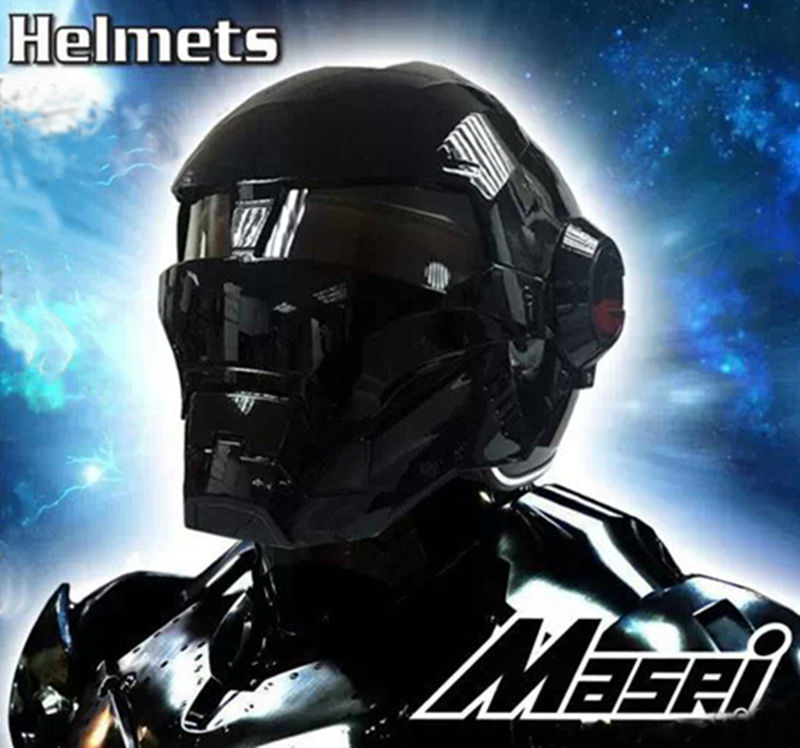 acheter masei hommes casques de moto noir ironman iron man casque de moto moiti. Black Bedroom Furniture Sets. Home Design Ideas