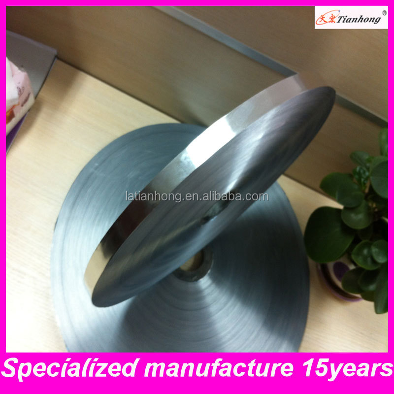double side silver electrically conductive aluminum foil tape for cable use th1022
