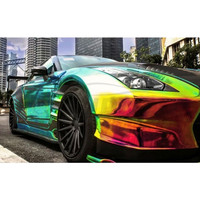 Annhao Premium Chrome Rainbow Holographic Automobiles Vehicle Design Car Wrap Vinyl Sticker