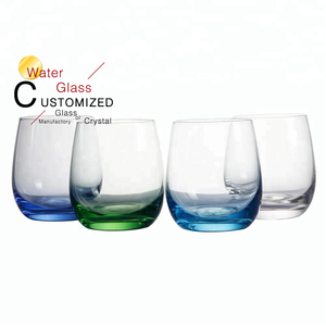 Free sample crystal glassware egg shape drinking tumbler water glass cup