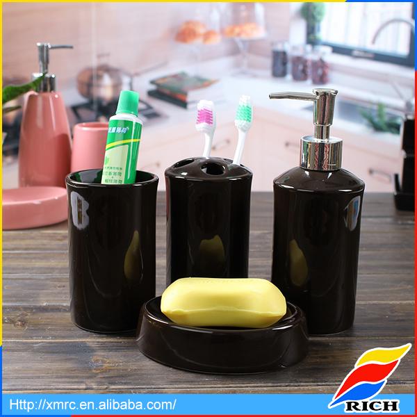 Negro al por mayor accesorios de ba o de cer mica fija for Accesorios de bano de ceramica